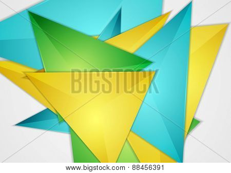 Bright abstract triangles design. Vector background