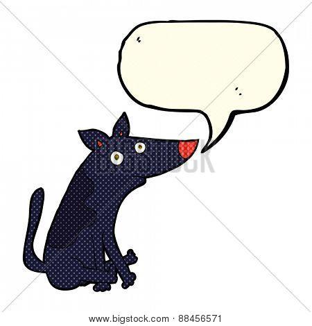 cartoon dog with speech bubble