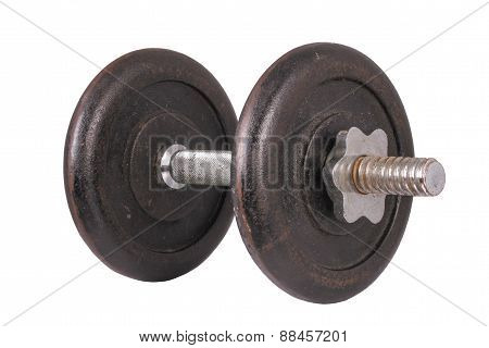 The Single Dumbbell On The White Background