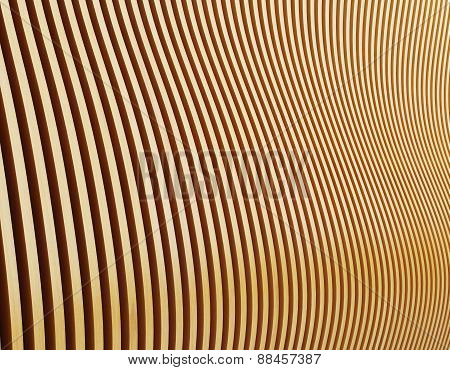 Wall In Form Of Waves