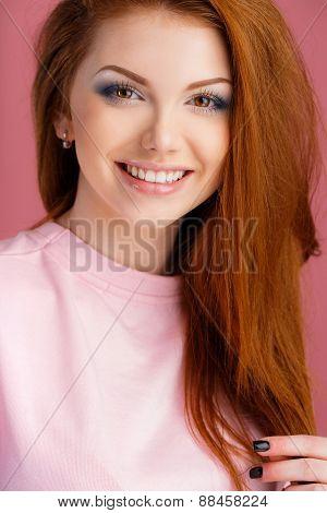 Studio portrait of a beautiful woman.