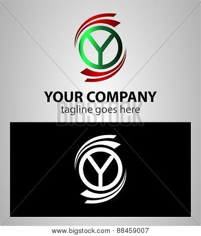 Letter Y logo Icons Set Vector Design
