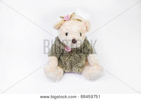 Toy Bear Isolated On White.