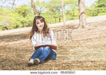 Asian female college or university student