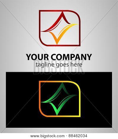 Abstract Logo design element