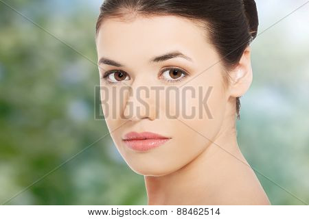 Beautiful spa woman ready for spa treatment.