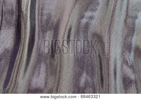Fabric With Iridescent Stains Of Motley Color