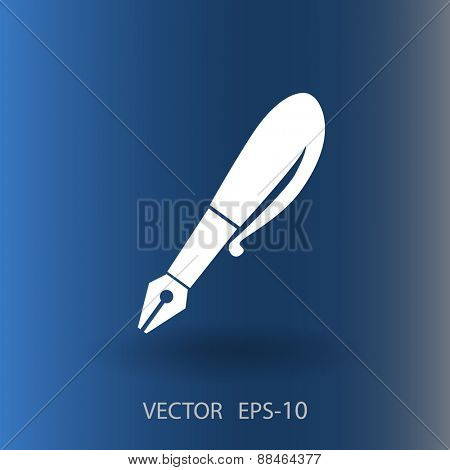 Flat  icon of pen