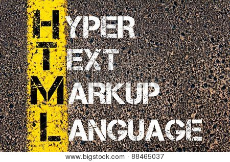 It Acronym Html As Hyper Text Markup Language