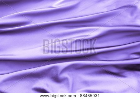 Soft Velvet Piece Of Violet Fabric With Folds