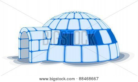 Snow Igloo, Vector Illustration