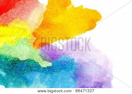Rainbow Abstract Watercolors.