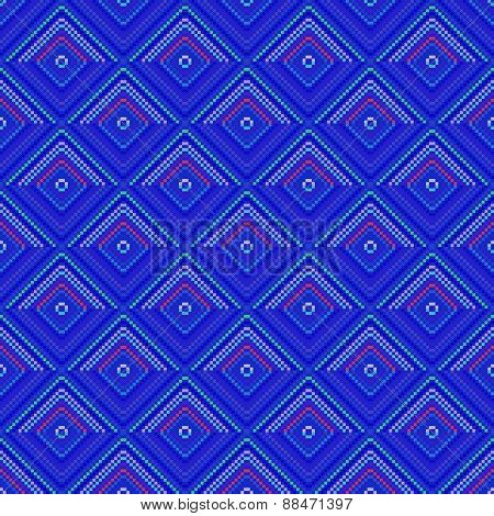 Blue decorative tile able pattern