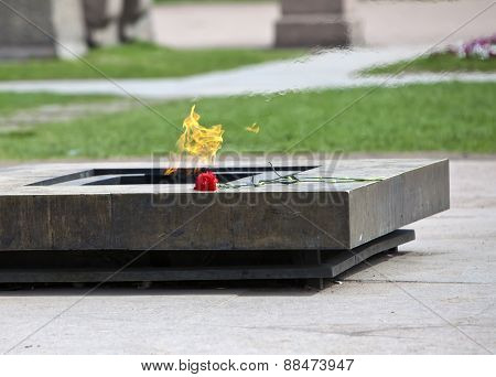 Russia. St. Petersburg. Field of Mars. Eternal flame