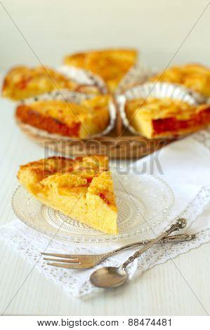 A Piece Of Homemade Peach Pie