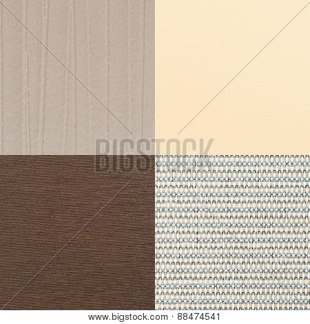 Set Of Brown Vinyl Samples