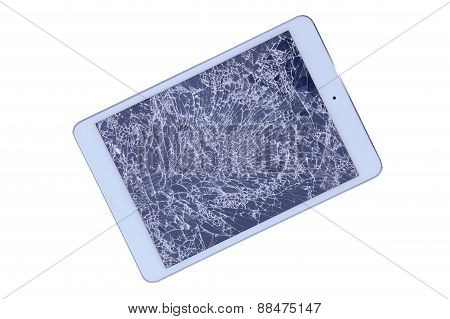 Tablet With A Shattered Screen