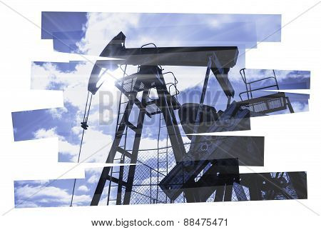 Pump jack abstract composition.