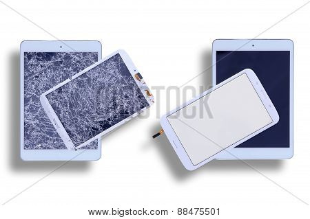 Shattered And Repaired Tablet Screens