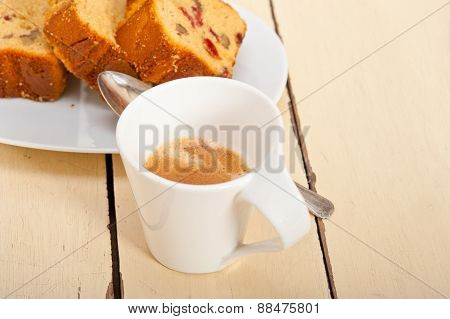 Plum Cake And Espresso Coffee