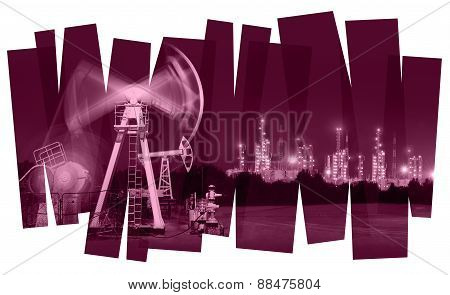 Oil industry abstract background.