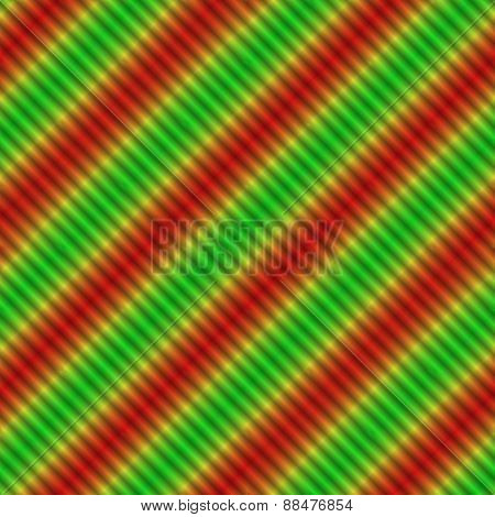 Magic shining red yellow green oblique stripes