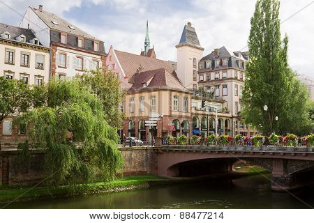 Strasbourg Cityscape In The Historical Center. Alsace, France
