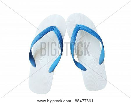slippers on a white background.