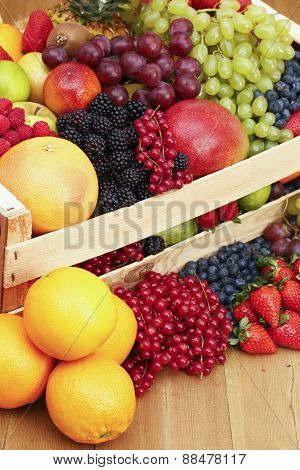 Box With Assorted Fruits
