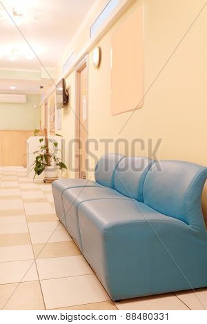 Waiting hall at the medical center