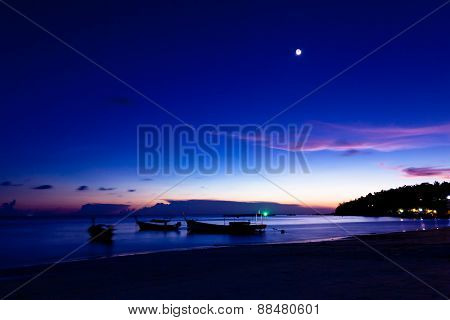 Night on the beach of Koh Lipe Island Thailand