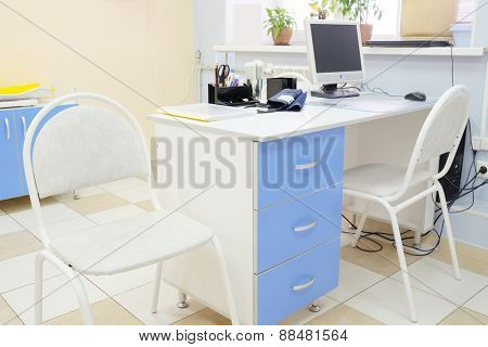 Modern interior of office pediatrician