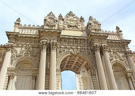 The Gate Of The Sultan, Dolmabahce Palace, Istanbul, Turkey