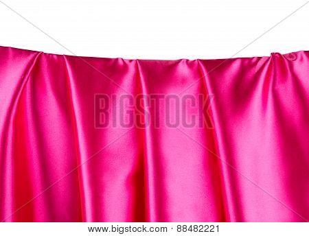 Pink satin.