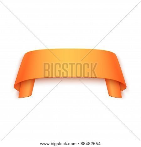 Vector 3d Curved Paper Banner Isolated on White Background