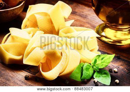 Italian Fettuccine Pasta Closeup