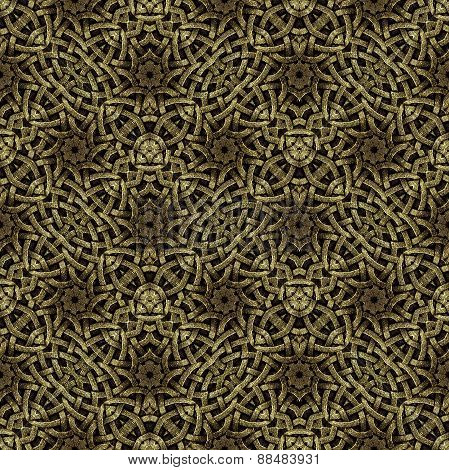 Arabesque Geometric Seamless Pattern