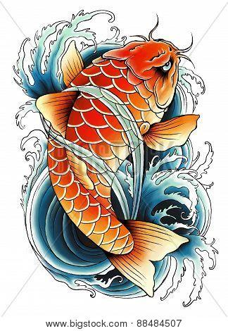Asian Carp Painting