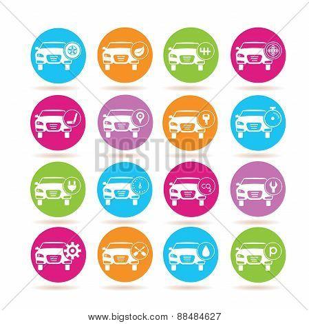 auto car service icons