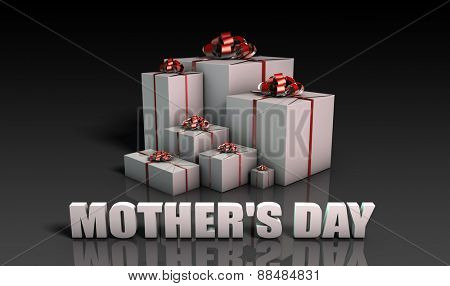 Mother's Day Gifts With Elegant Red Ribbons
