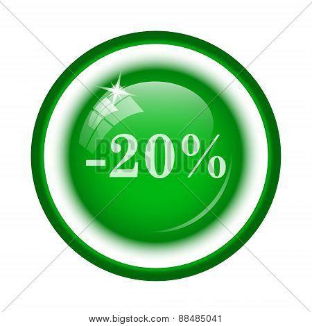 20 Percent Discount Icon