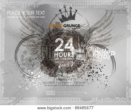 background for poster in grunge style. Grunge print for t-shirt. Abstract background. Texture background. Abstract shape