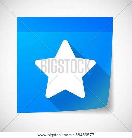 Sticky Note Icon With A Star