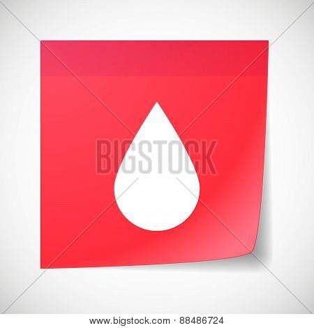 Sticky Note Icon With A Blood Drop