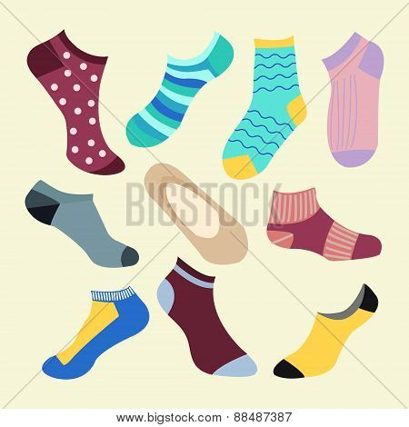 Different Types Of Socks- Illustration