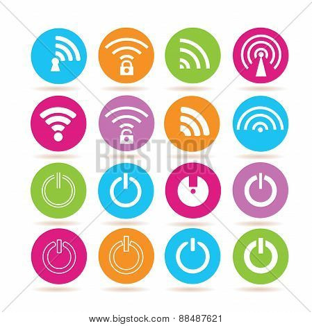 wifi icons and power icons