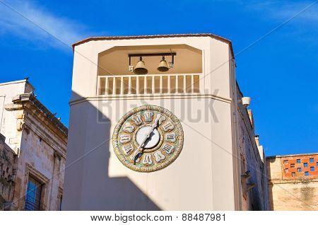 Clocktower. Rutigliano. Puglia. Italy.