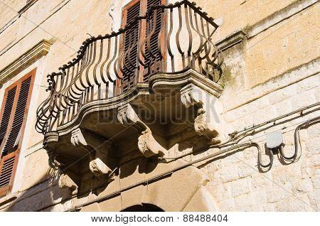 Historical palace. Rutigliano. Puglia. Italy.