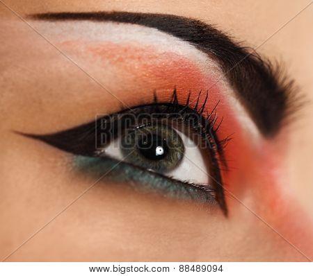Eye Make Up. Beautiful Eyes Glitter Make Up