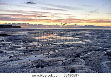 Alaska Seashore - Sunset (Plane in Distance)